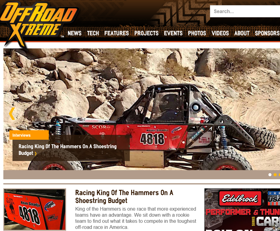 CS4x4 Racing on the cover of ORX Magazine